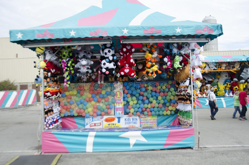 Balloon pop game at Oklahoma State fair. This is a balloon pop game at the Oklahoma State Fair stock photo