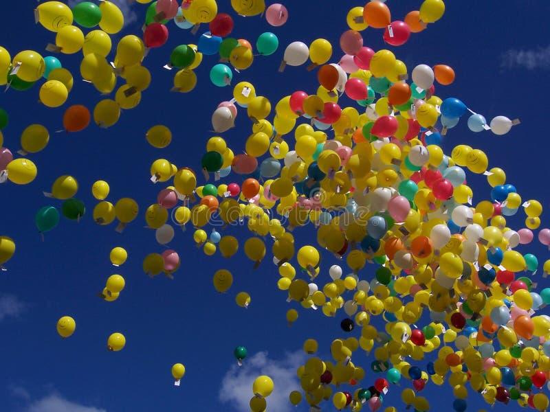 Balloon race 2 stock photo
