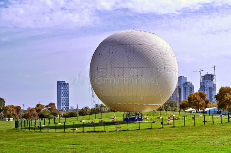 Balloon ready to fly, park in Tel Aviv stock photography
