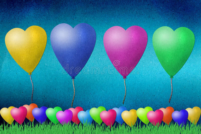 Download Balloon  Recycled Paper Craft Stock Illustration - Illustration: 22628230