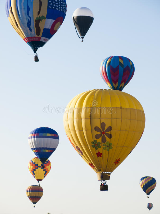 Balloon Show. The 36th annual Colorado Balloon Classic and Colorado's largest Air Show royalty free stock photo