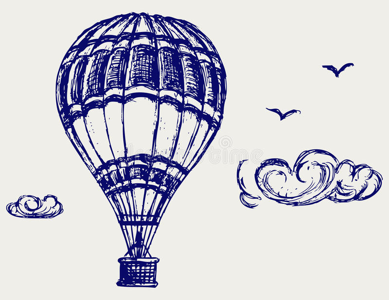 Balloon Sketch Royalty Free Stock Image