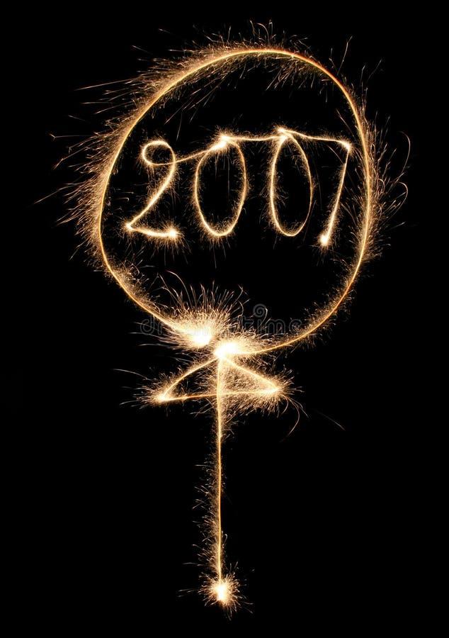Download Balloon sparkler στοκ εικόνες. εικόνα από νύχτες, καμπύλη - 1530388