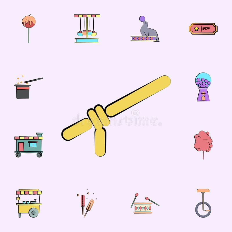 balloon for toys colored icon. circus icons universal set for web and mobile stock illustration