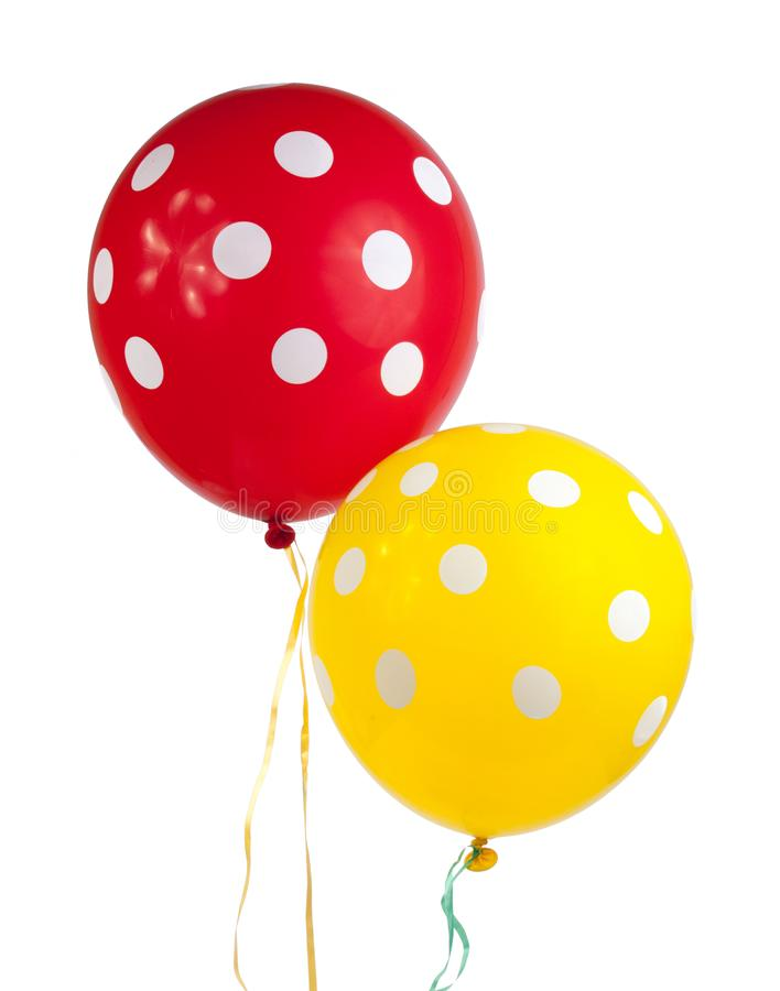 balloon with white dots isolated stock images