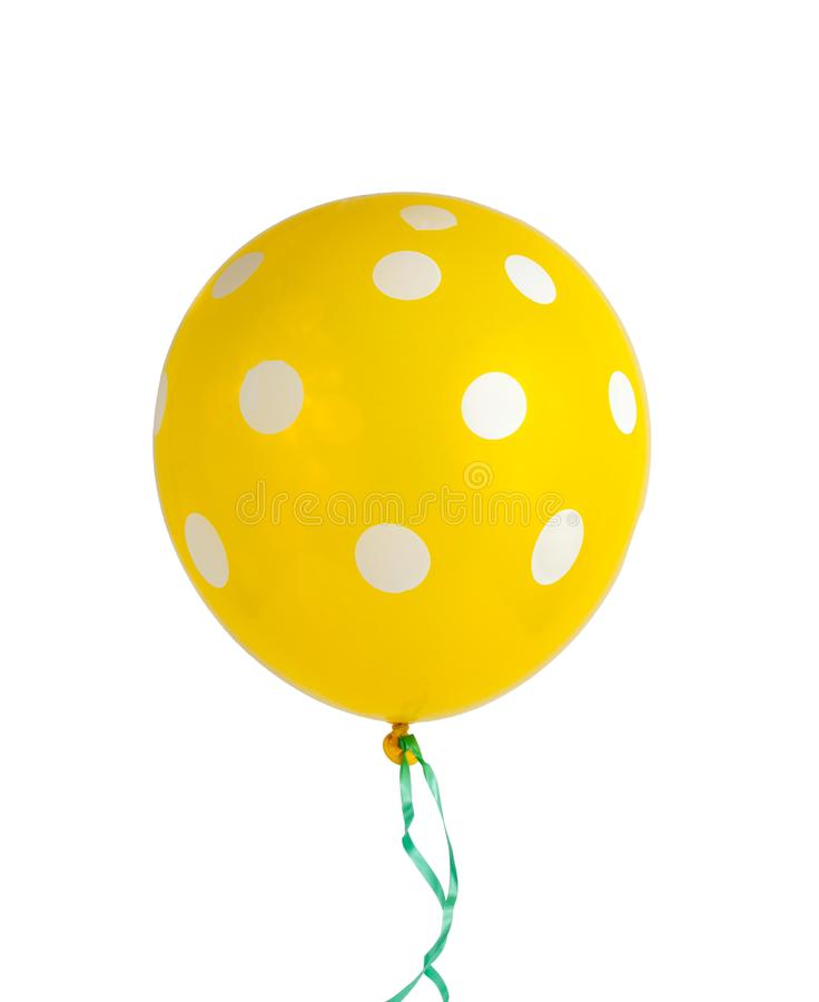 balloon with white dots isolated royalty free stock image