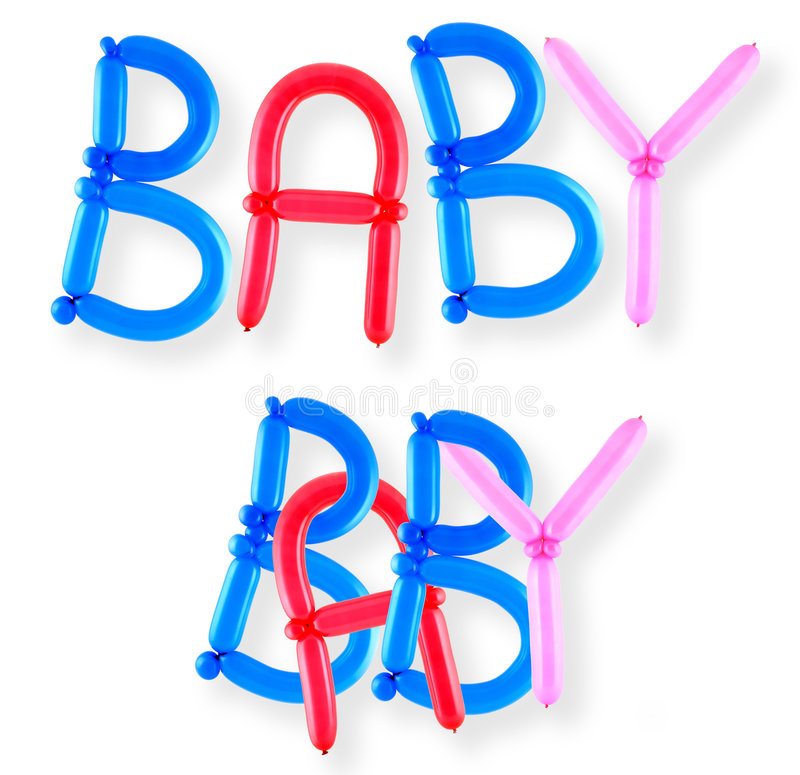 Download Balloon Word Baby Royalty Free Stock Images - Image: 4537409