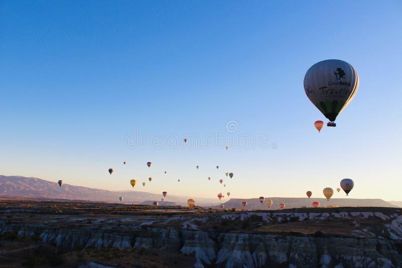 Ballooning in Cappadocia immagini stock