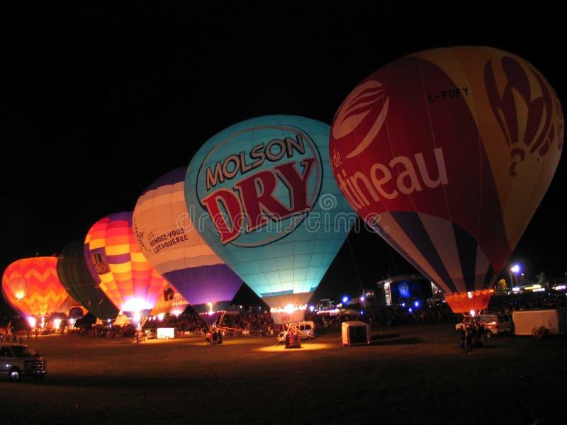 Ballooning in Gatineau. Canada, north America. Ballooning in Gatineau. Canada north America stock photo