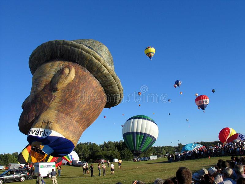Ballooning in Gatineau Il Canada, America settentrionale fotografia stock