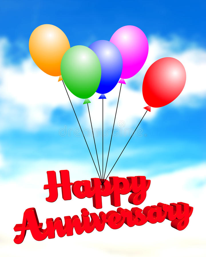 anniversary background balloons royalty free illustration