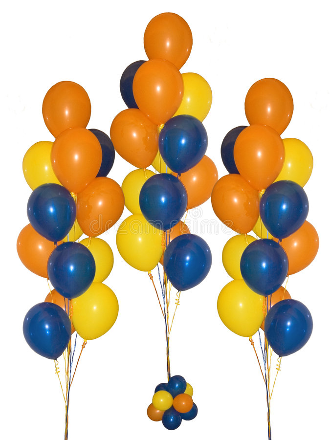 Download Balloons stock image. Image of blue, colors, background - 114511