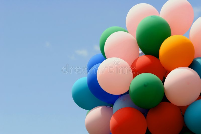 Download Balloons stock photo. Image of party, celebration, colorful - 114602