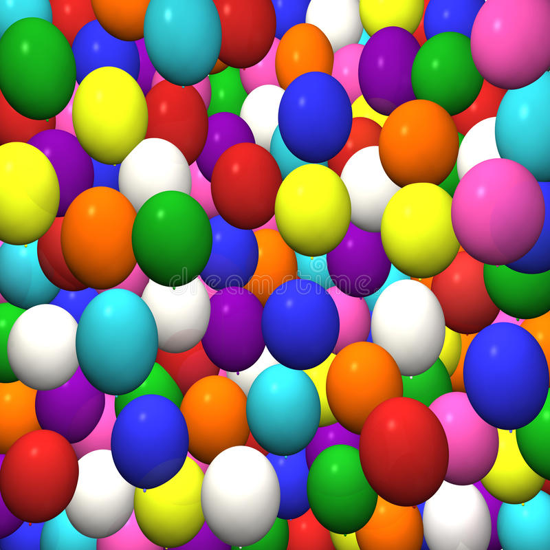 Download Balloons stock illustration. Image of circus, colorful - 13317459