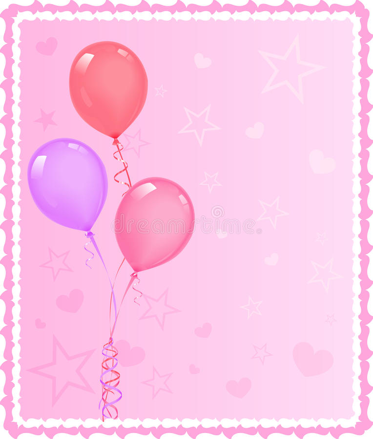 Download Balloons stock vector. Image of bunch, illustration, heart - 14324430
