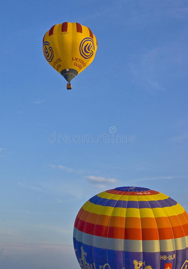 Balloons. Ballons competition at Fragneto Monteforte in Italy stock photos
