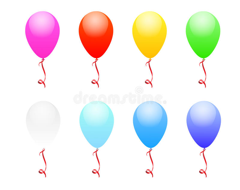 Download Balloons stock vector. Image of yellow, knot, celebration - 14859205