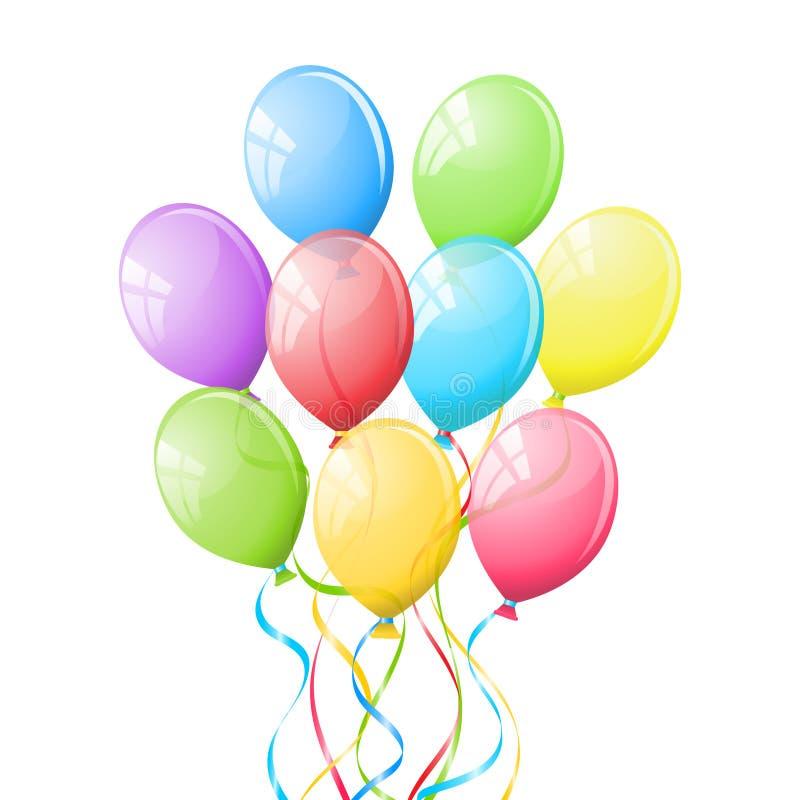 Download Balloons. stock vector. Image of balloon, ballon, colorful - 19085524