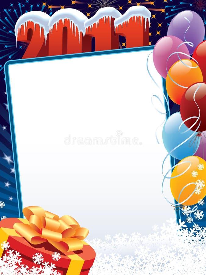 Download Balloons 2011 stock vector. Image of gift, christmas - 15825584