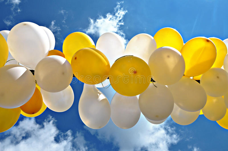 Download Balloons stock image. Image of white, color, yellow, clouds - 23116281