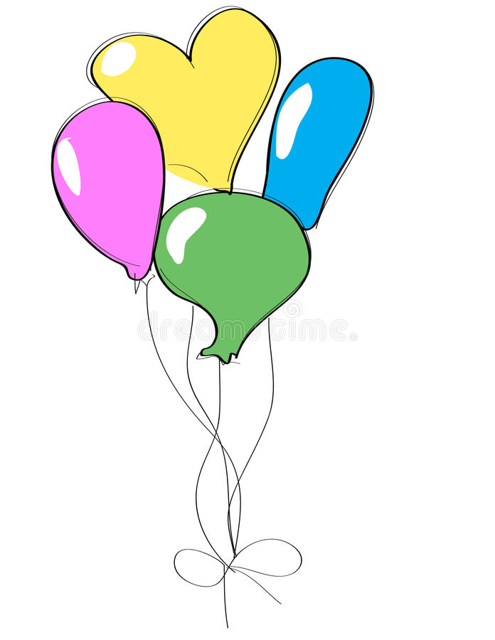 Download Balloons stock vector. Image of helium, classroom, illustration - 25549093