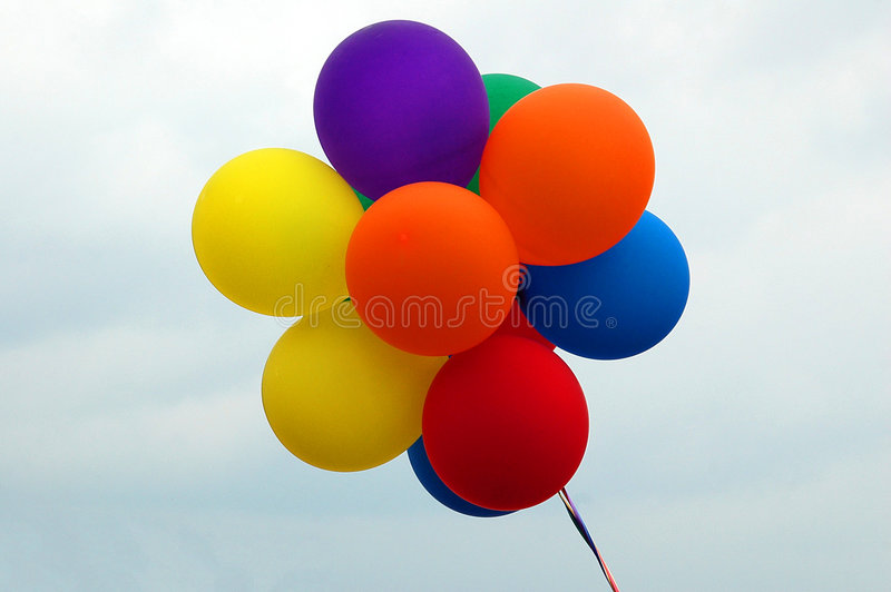 Balloons. Photographed party balloons at local park in Georgia royalty free stock photos