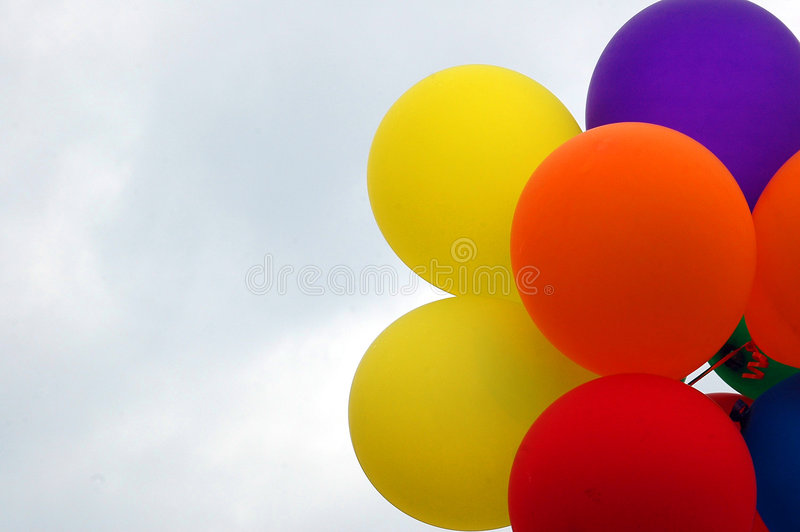 Balloons. Photographed party balloons at local park in Georgia royalty free stock images