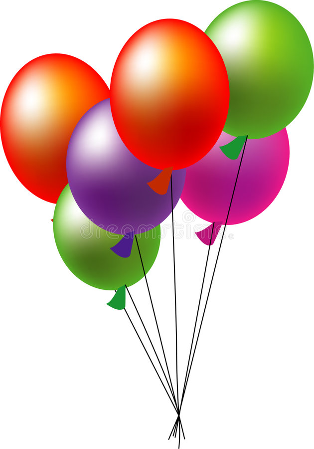 Download Balloons stock illustration. Image of colorful, isolate - 3645022