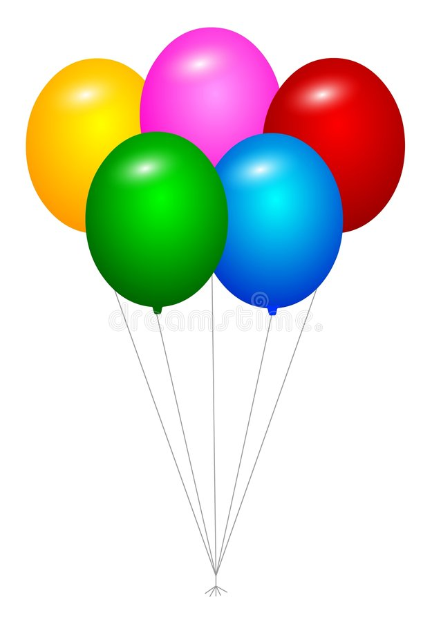 Balloons stock illustration