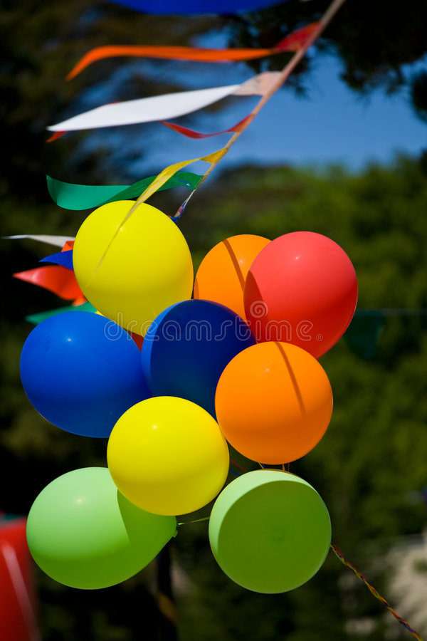 Download Balloons stock photo. Image of blue, green, helium, yellow - 5207924