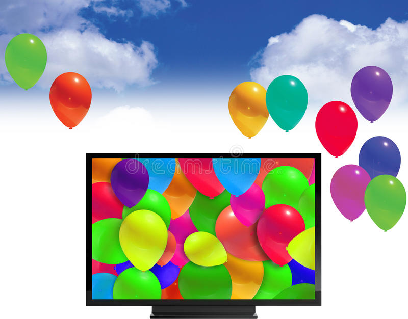 Download Balloons stock illustration. Image of floating, favors - 9813941
