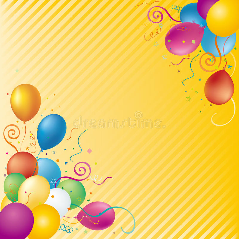 balloons background vector illustration