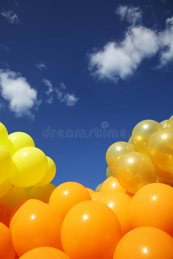 Download Balloons background stock photo. Image of balloons, orange - 16845892