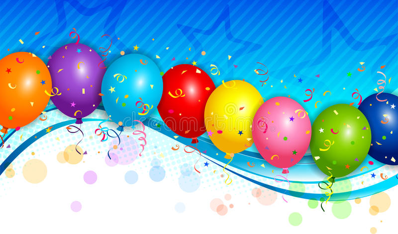 Balloons background vector illustration