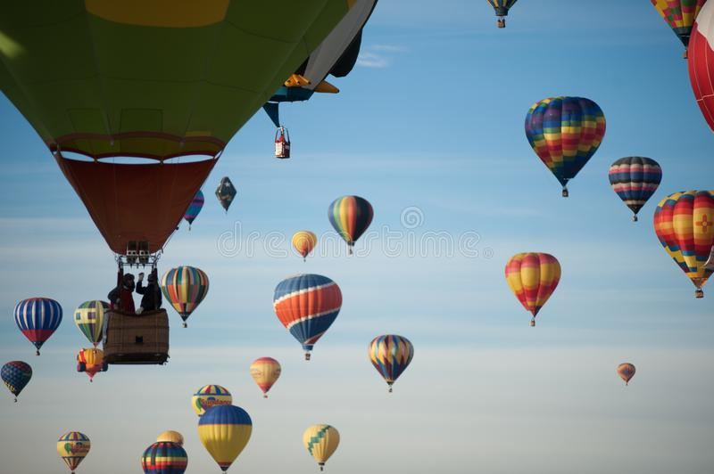 Balloons at a balloon festival. In New Mexico stock images