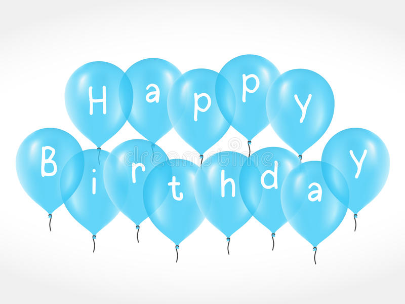 Balloons with Birthday Greetings vector illustration