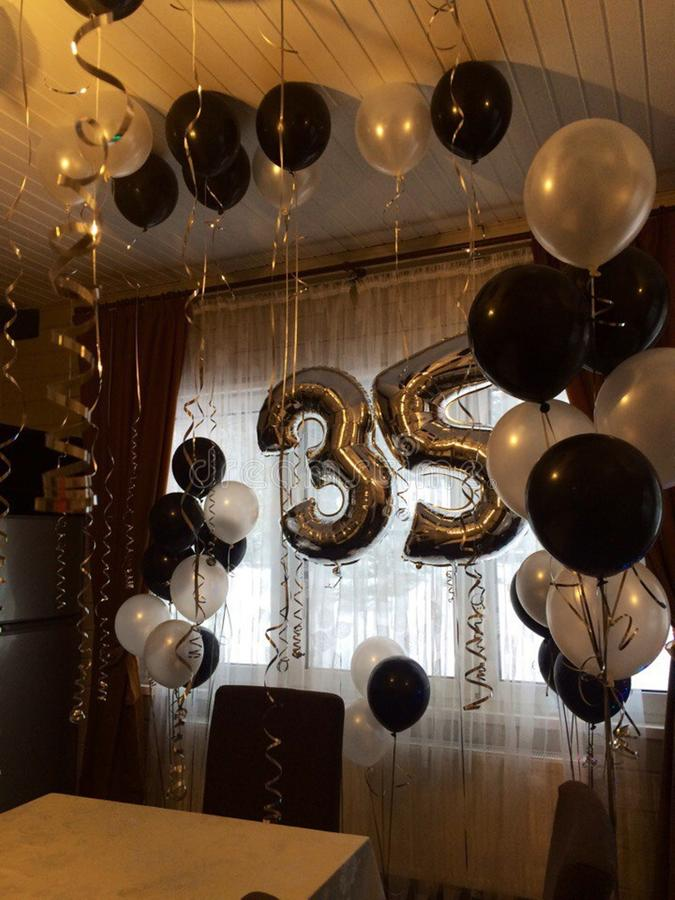 Balloons for the congratulations of adults  35 stock photos