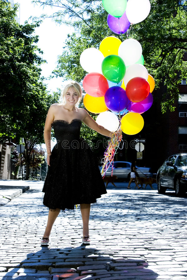 balloons blond out sun στοκ φωτογραφία με δικαίωμα ελεύθερης χρήσης