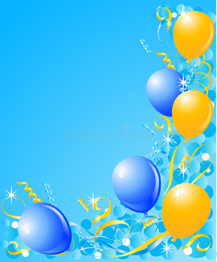 Balloons On A Blue Background Stock Vector Image 10407129