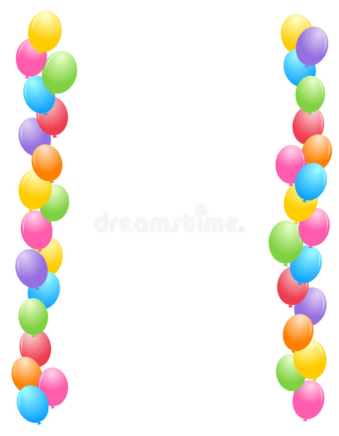 Balloons border / frame vector illustration