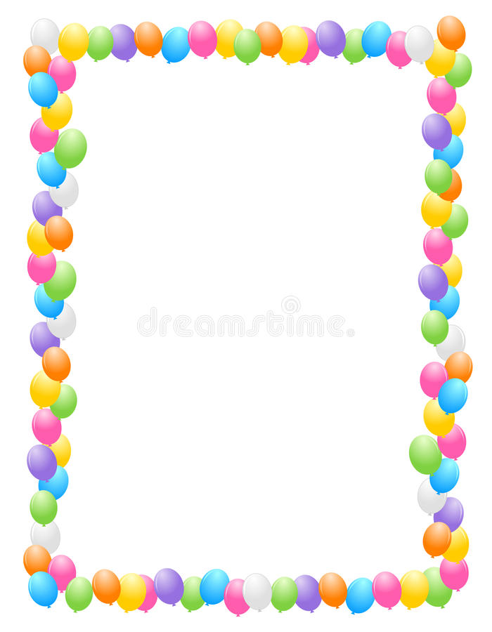 Balloons border / frame royalty free illustration