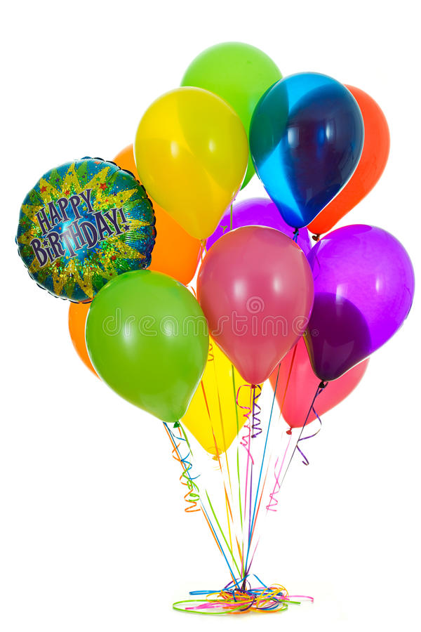 Balloons: Bunch of Happy Birthday Balloons stock image