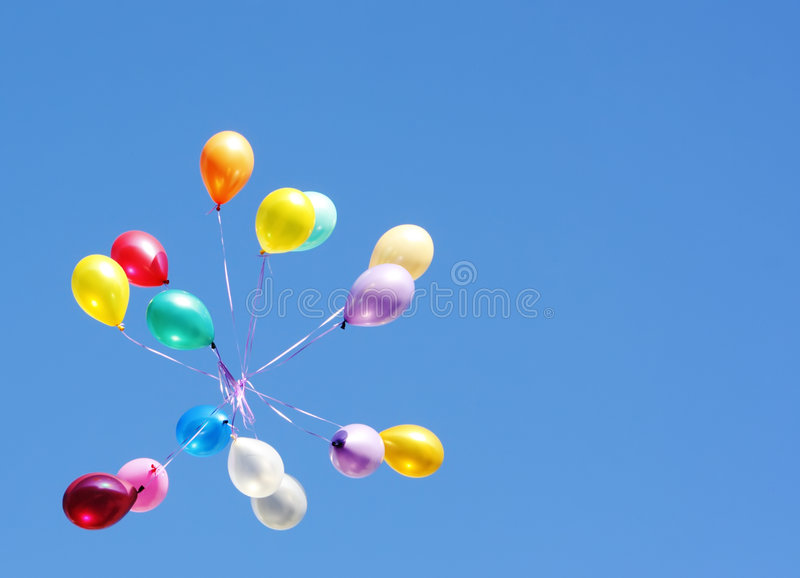 Balloons card stock image