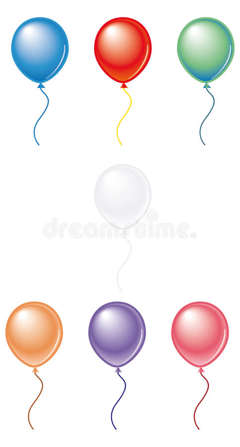 Balloons color pack#2 stock photography