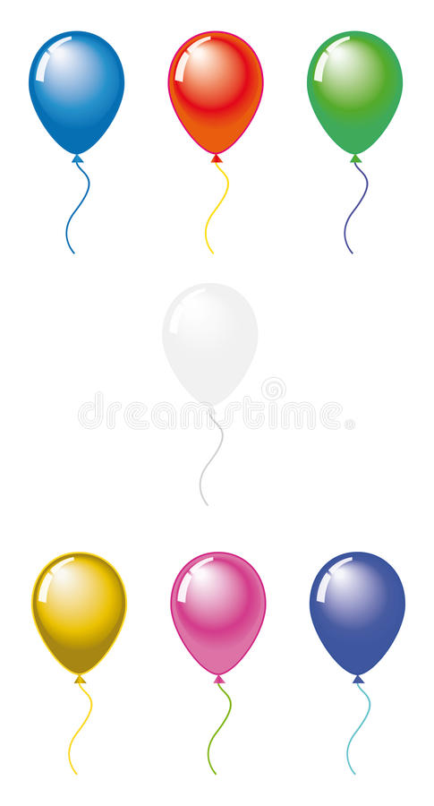 Balloons color pack#3 royalty free stock photo