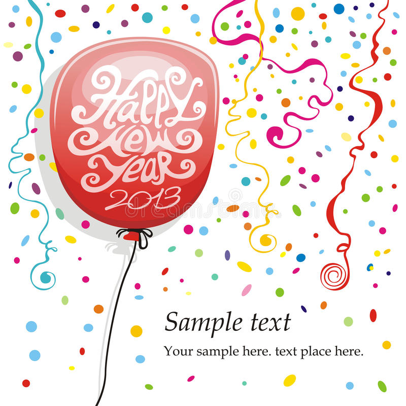 Balloons and Confetti. Balloons confetti on white background vector illustration