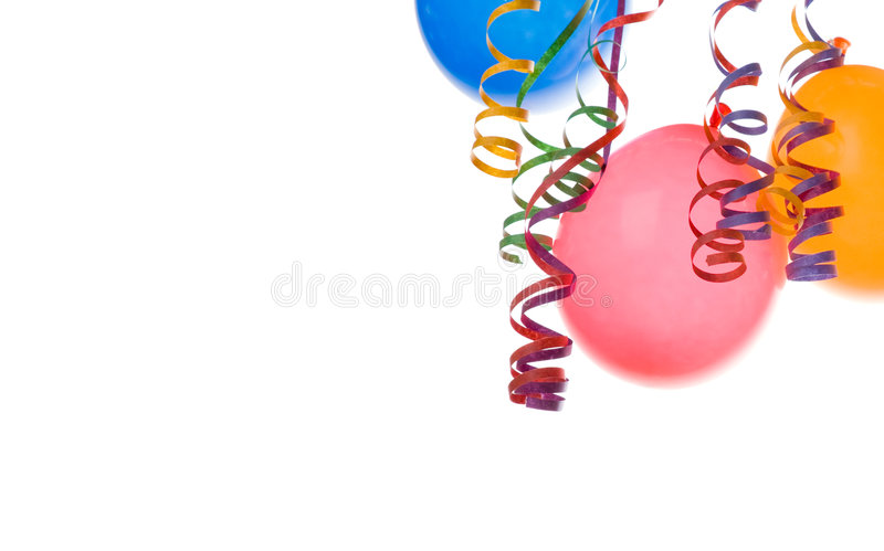 Balloons And Confetti Royalty Free Stock Photo