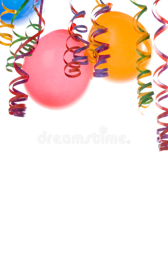 Download Balloons and confetti stock image. Image of object, copy - 4111363