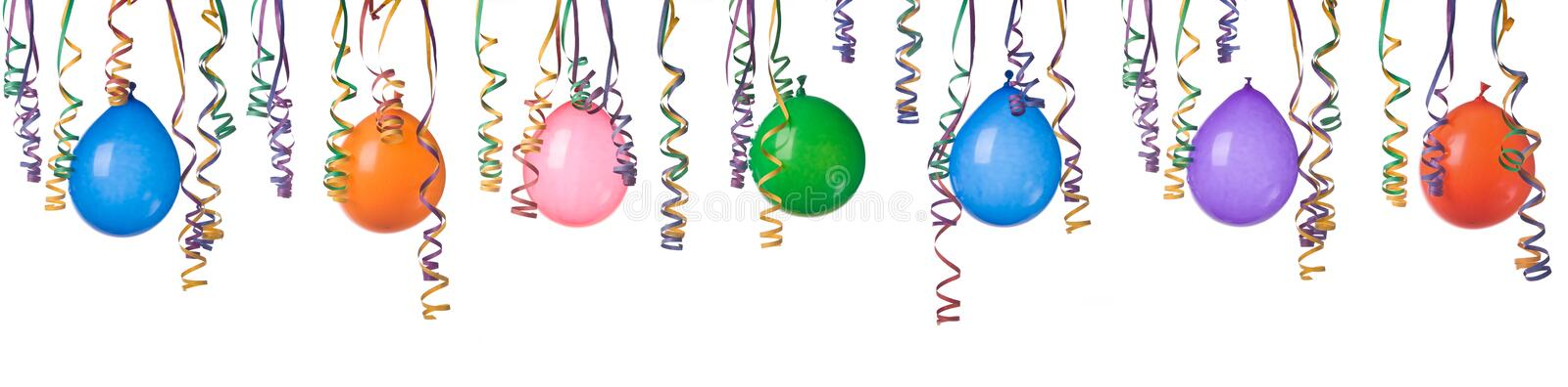 Balloons and confetti royalty free stock image