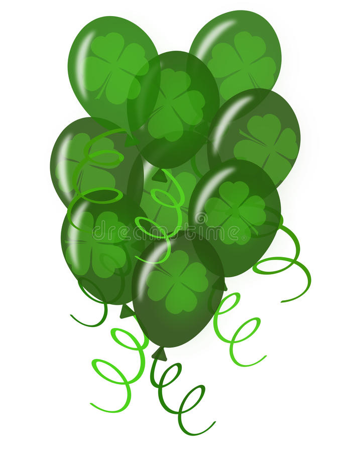 Download Balloons With Confetti For St. Patricks Day  Party Stock Illustration - Image: 18471579